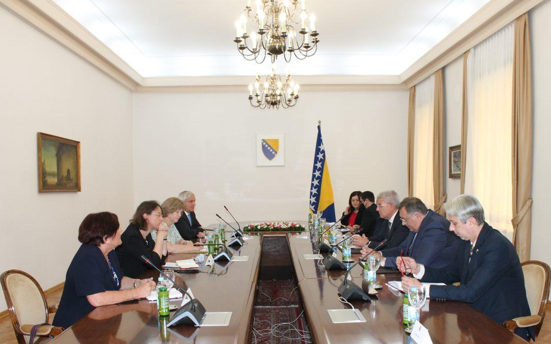 Чланови Предсједништва Босне и Херцеговине примили дипломатску савјетницу предсједника Републике Француске